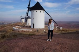 me in front of windmills