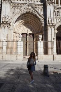 Me outside toledo cathedral
